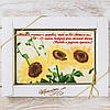 """Шоколадная открытка """"Желаю счастья..."""" классическое сырье. Размер: 187х142х10мм, вес 170г"""