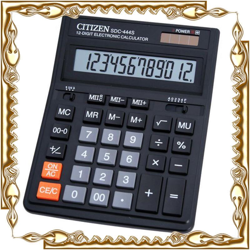 Калькулятор Citizen SDC-444S настольный большой