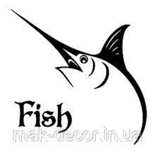 Виниловая наклейка - Fish 20х20 см