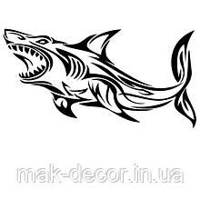 Виниловая наклейка - акула