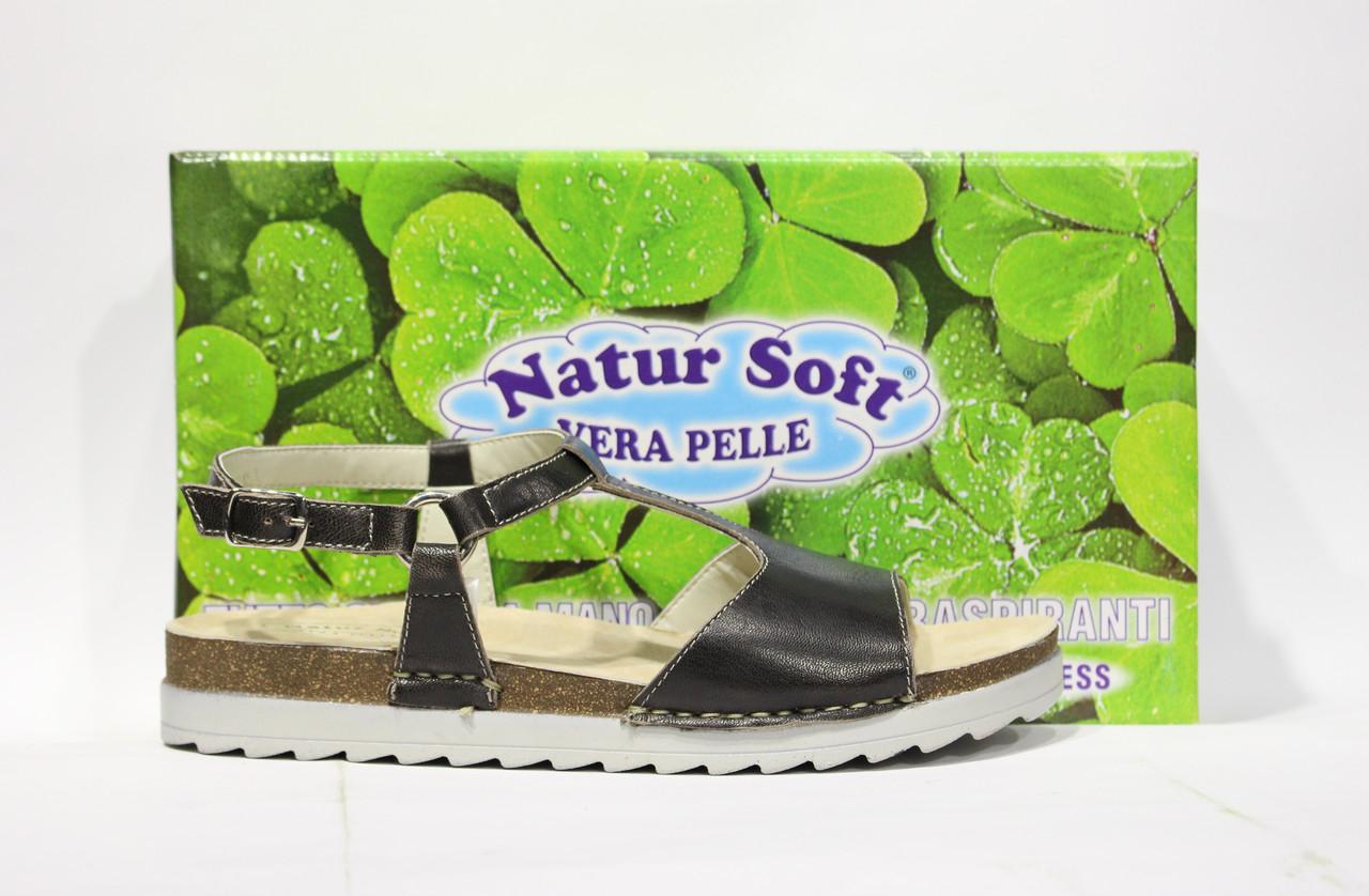 Шикарные кожаные босоножки Natur Soft, Италия-Оригинал