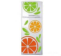 Вінілова наклейка на холодильник -Різнобарвний набір цитрусові (найбільша апельсина 40х40 см)