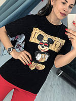 Женская футболка Гуччи с Микки Маусом