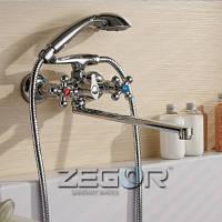 Двурукие смесители для ванны   Zegor DAK7-A