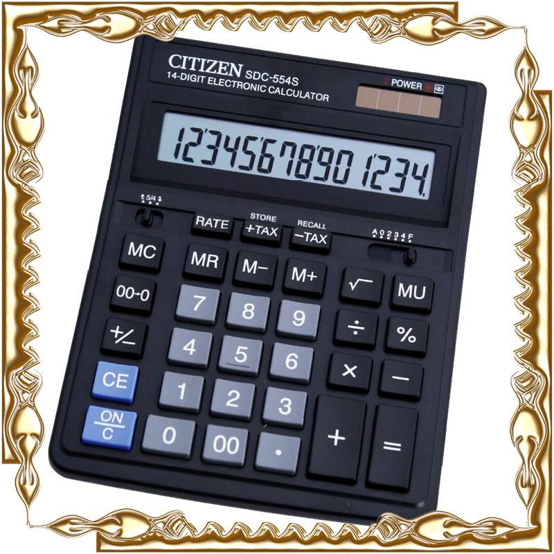 Калькулятор Citizen SDC-554S настольный большой