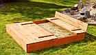 Деревянная песочница с лавочками для детей Just Fun 120 х 120 см, фото 4