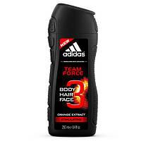 Чоловічий гель для душу Adidas Team Force 3в1 250 мл