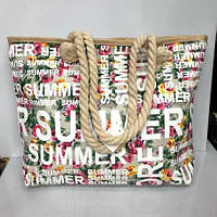 d4d91d4e4ce4 Пляжная сумка 2861 Summer женская текстильная ручки канаты 48 см х 35 см х  10 см