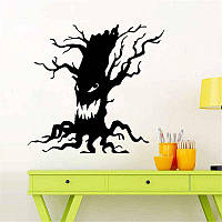 Виниловая интерьерная наклейка - Страшное дерево