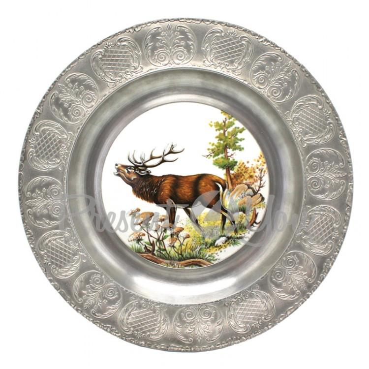 Тарелка декоративная «Олень» Artina SKS, d-23 cм