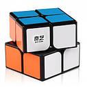 Кубик Рубика 2*2 Qiyi Cube черный корпус, фото 2