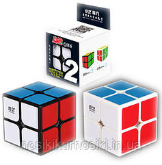 Кубик Рубика 2*2 Qiyi Cube черный корпус