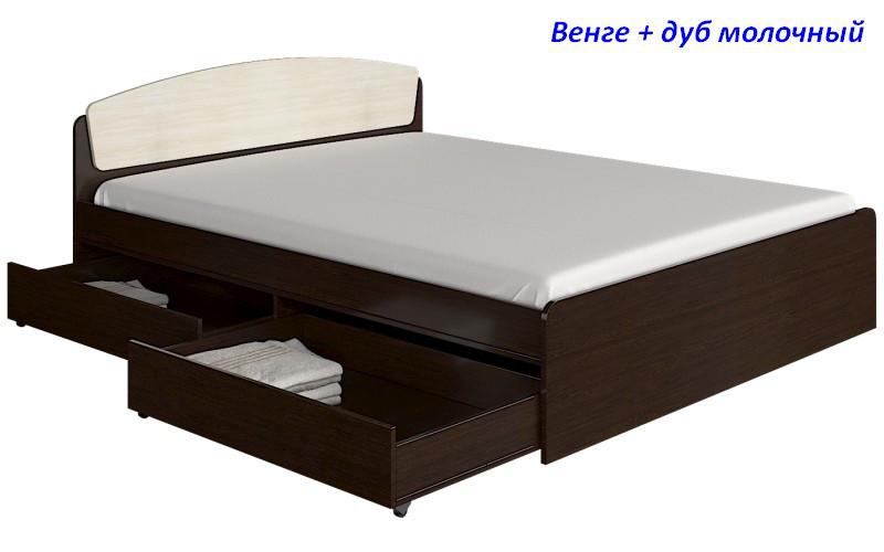 Кровать двуспальная Астория 2-мя с ящиками