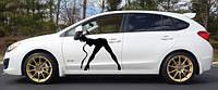 Виниловая наклейка на авто - на дверь Девушка 2