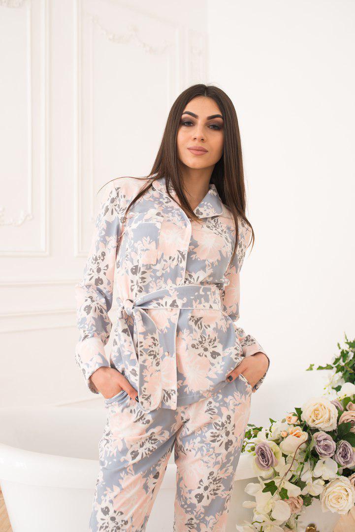 b33cd9d62b6 Костюм женский модный в пижамном стиле D G цветочный принт Df967 ...