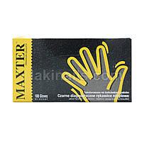 Нитриловые перчатки размер S черные, упаковка 50 пар