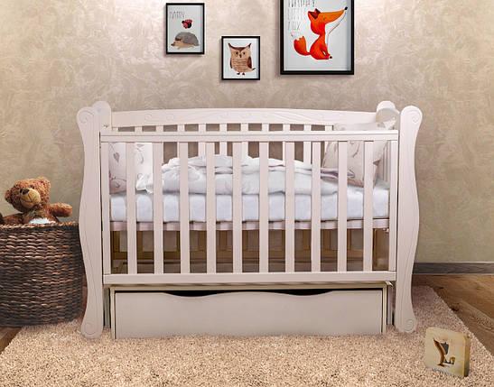 """Детская кроватка  Angelo Lux-1 Цвет """"слоновая кость"""", фото 2"""