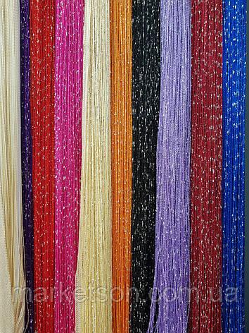 Шторы нити кисея радуга, дождь, лапша с люрексом.Каждый цвет отдельная штора, фото 2