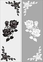 Вінілова інтер'єрна наклейка -Візерунок 2 шт і троянди розмір 65х40 см набір