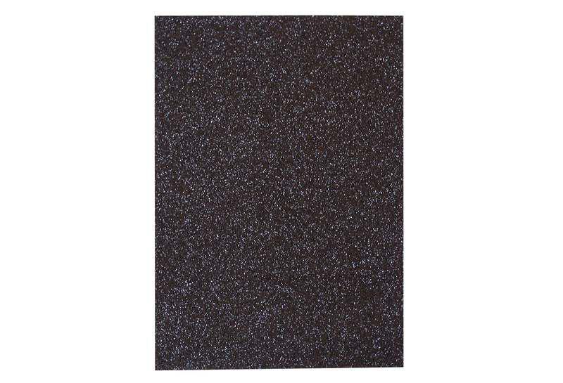 Фоамиран с глитером 20*30см, 10 листов, черный, 7948
