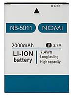 Оригинальный аккумулятор Nomi i5011 Evo M1 (2000mAh) NB-5011 (батарея, АКБ)