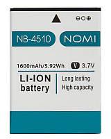Оригинальный аккумулятор Nomi i4510 Beat M (1600mAh) NB-4510 (батарея, АКБ)