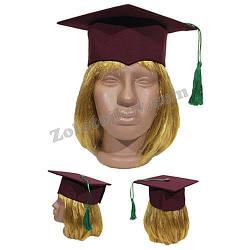 Квадратная шапка профессора для ребенка