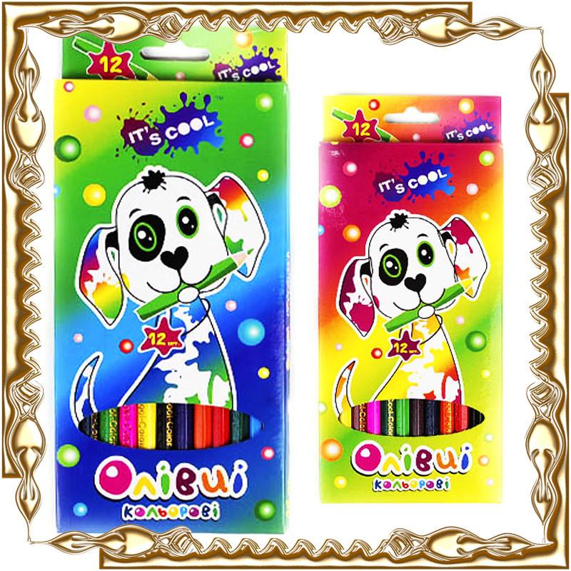 Карандаши цветные Its Cool 12 цв. карт. уп. заточ. 215/12