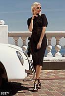 Повседневное летнее платье. Цвет черный.