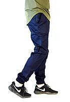 Хлопковые темно-синие брюки джоггеры