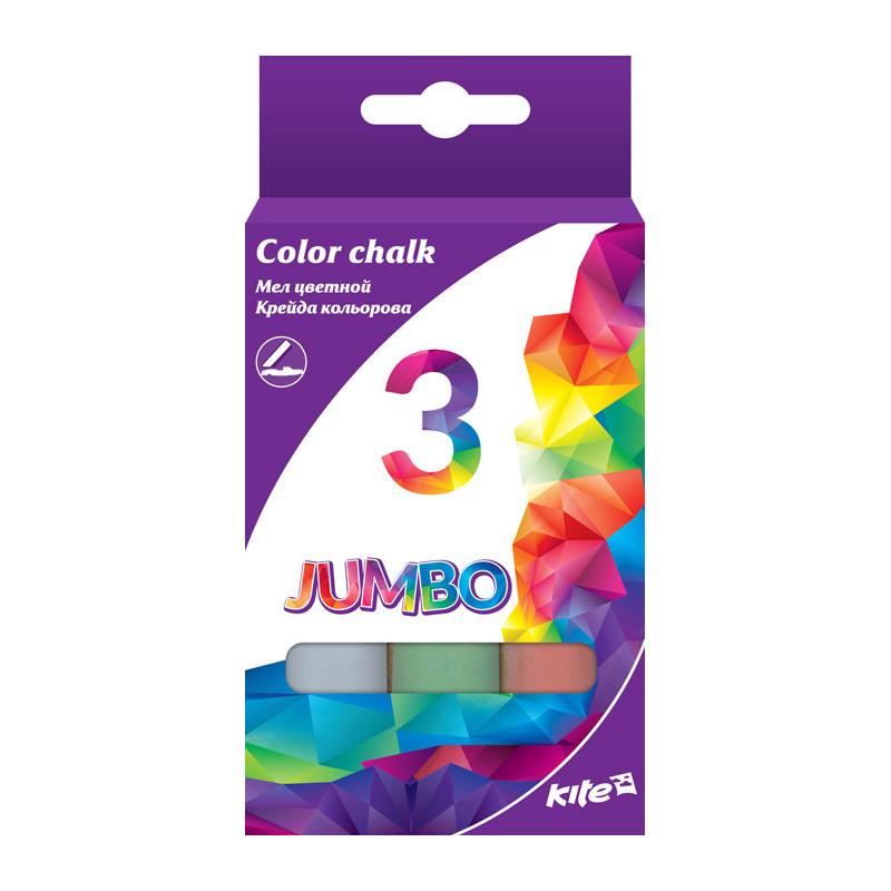 Мел цветной Jumbo, 3 цв. Kite