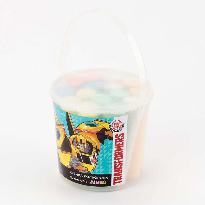 Мел цветной Jumbo, 15 шт. в ведерке TF