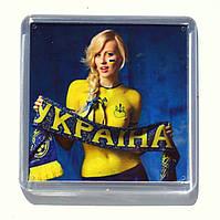 """Магнит  """"Україночка"""", купить магниты оптом, купити магніт з символікою., фото 1"""