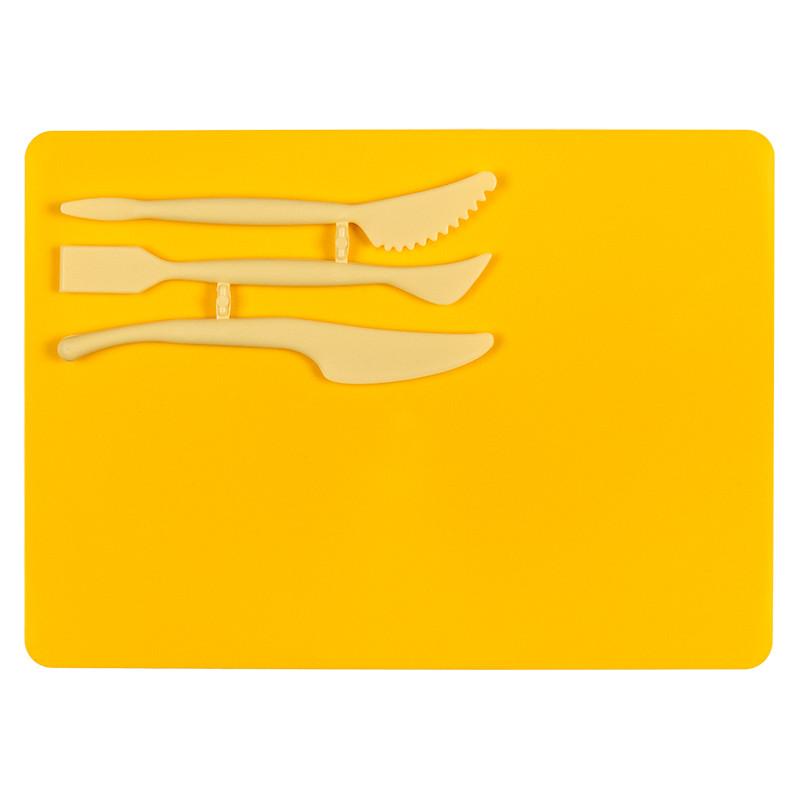 Набор для лепки ( дост.180х250 мм + 3 стека),желт.