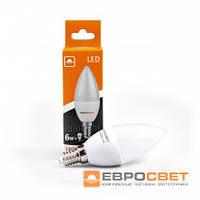 Светодиодная лампа Евросвет С-6-4200-14 6W 4200K E14 220V