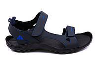 Мужские кожаные сандалии Nike NS Blue (реплика)