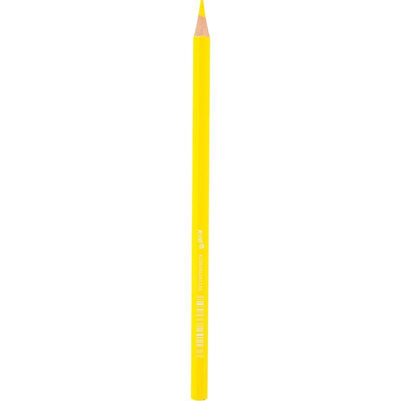 Карандаши цветные Kite, желтый