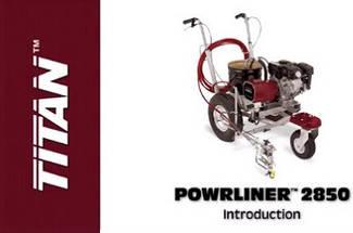 Машины для разметки дорог TITAN PowrLiner 2850