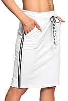 Белая юбка в спортивном стиле Angell (Код 153)