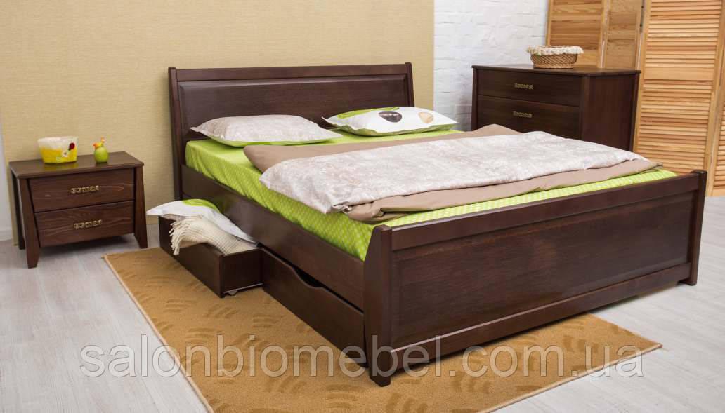 Кровать Сити 1,4м бук филенка с ящиками