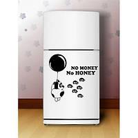 Виниловая наклейка на холодильник -Вини пух (цена за размер 40х40 см)