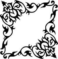 Виниловая наклейка - Узор 5 40х40 см