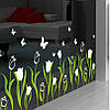 Виниловая интерьерная наклейка - тюльпаны и бабочки