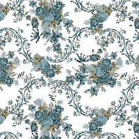 Ткань Синий букет 11142 v 9