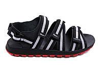 Мужские кожаные сандалии Nike Summer life black grey (реплика), фото 1