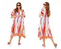 Легкое летнее штапельное платье больших размеров , фото 1