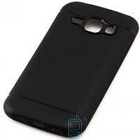 Чехол силиконовый Samsung J1 2015 J100 матовый черный