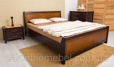 Кровать Сити 1,8м бук с изножьем интарсия