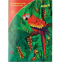 Бумага цветная двустор. (15лист/15цвет), А4 Kite