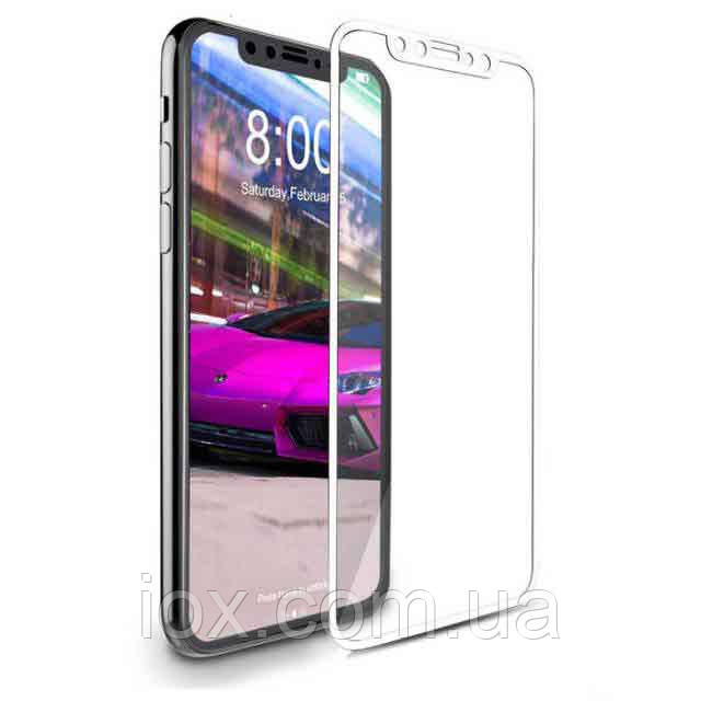 Защитное 4D стекло на экран для iPhone X